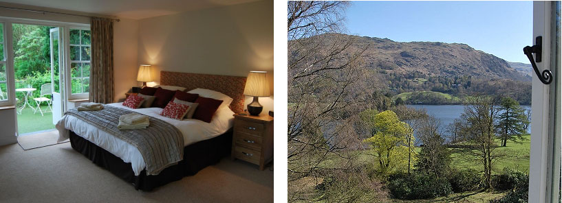 huntingstile lodge grasmere bedroom and view
