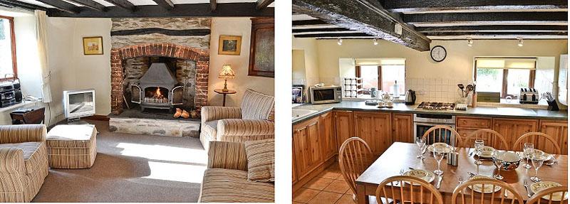 oaks farm cottage ambleside lounge and kitchen